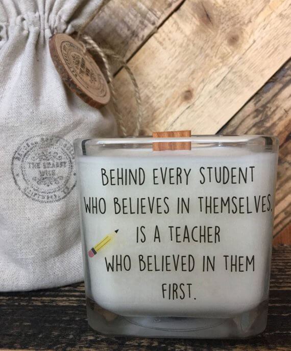 Personalized Teacher Candle