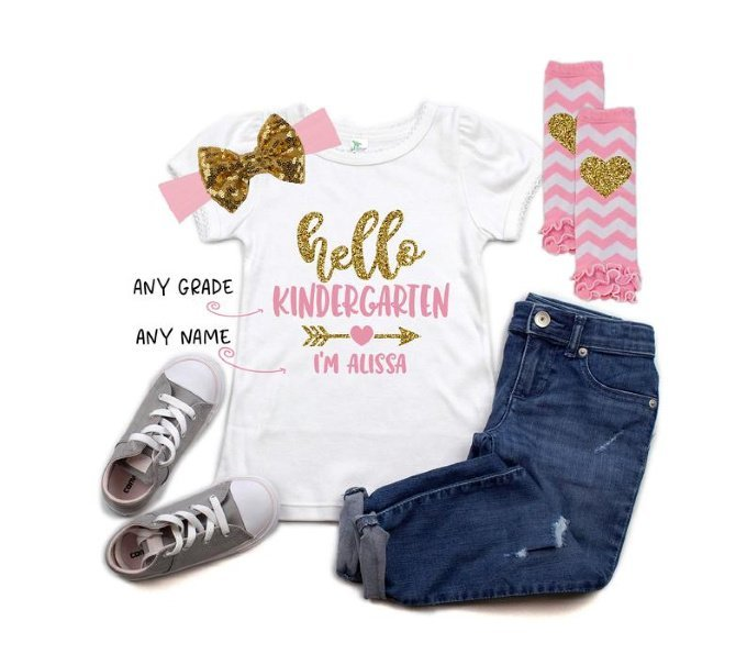Custom Hello Grade Shirt - Back to School Outfit