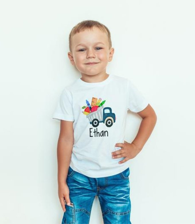 Personalized Boy's School Shirt