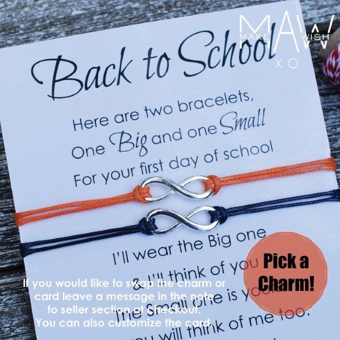 Back to School Keepsakes - First Day of School Bracelets