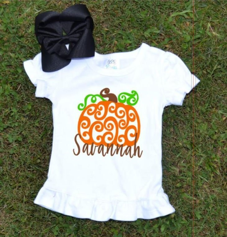 Girls Pumpkin Shirt