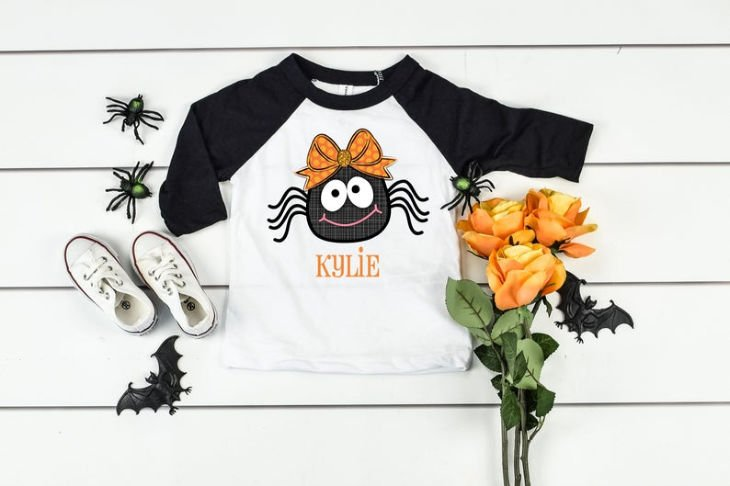 Halloween Spider Shirt for Girls