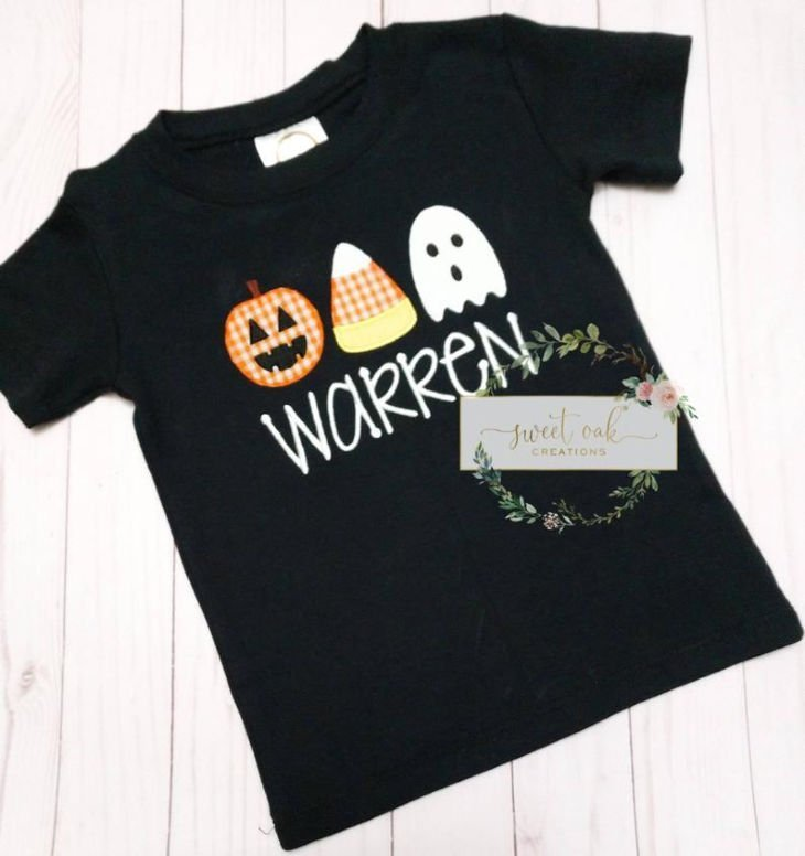 Halloween Trio Applique Halloween Shirt