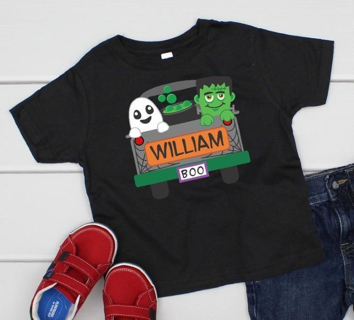 Halloween Personalized Truck Shirt