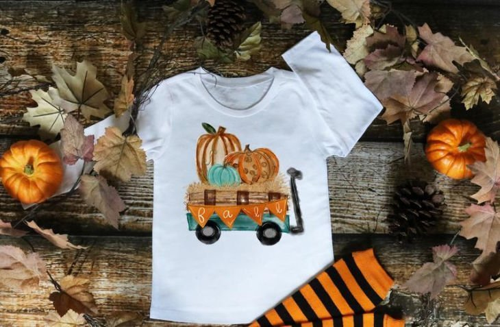 Pumpkin Wagon Hay Ride Shirt