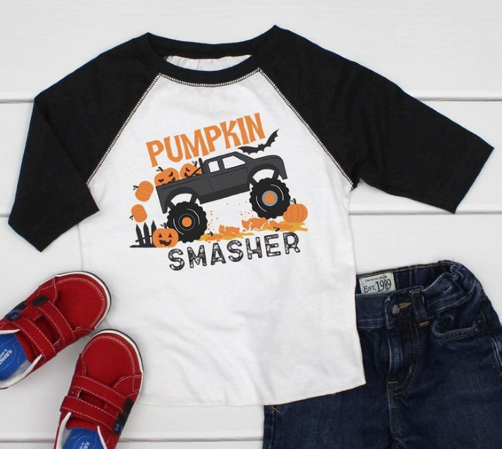 Pumpkin Smasher Boys Shirt