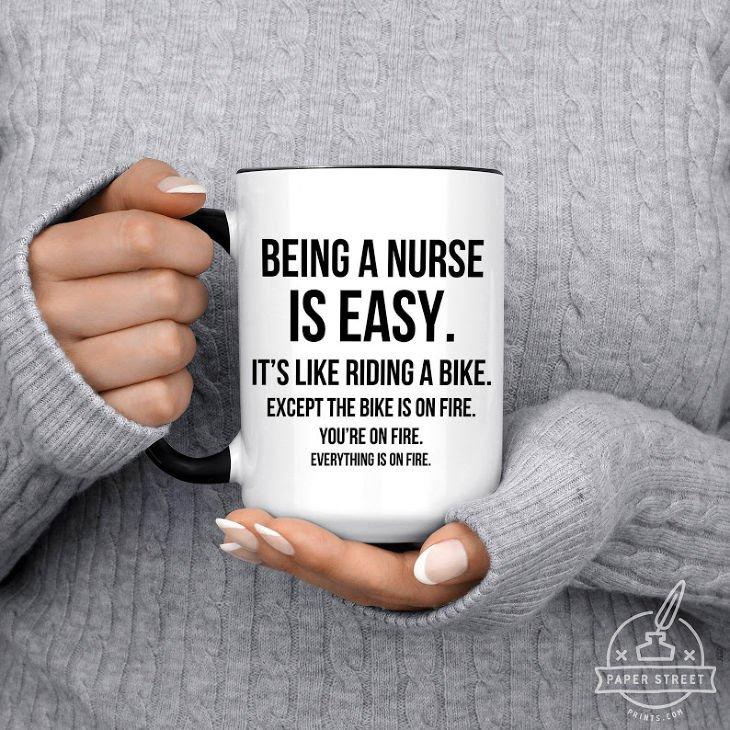 Being a Nurse is Easy Mug