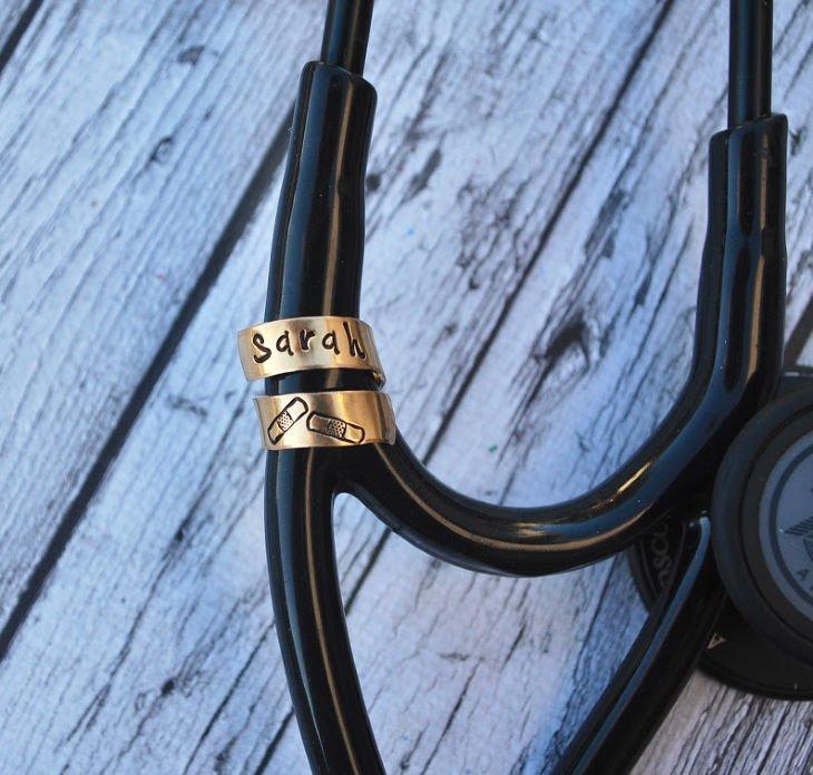 Brass Stethoscope ID Tag
