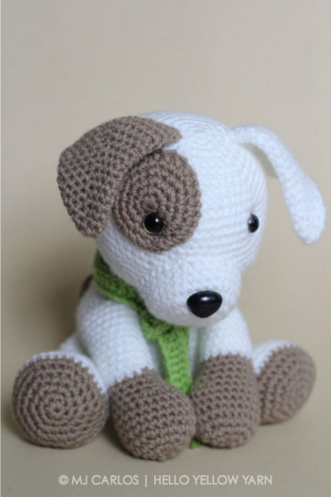 Jack the Pup Crochet Amigurumi Pattern