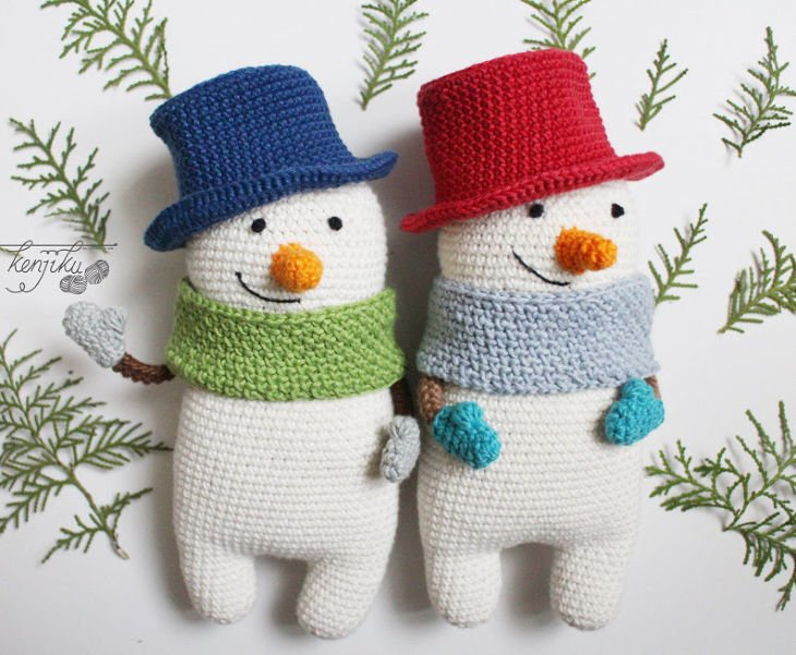 Mr Snowman Amigurumi Crochet Pattern