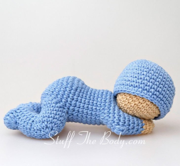 Sleeping Baby Amigurumi Crochet Pattern