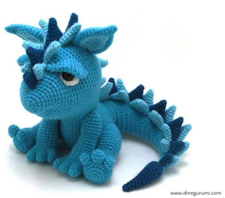 Spikey the Dino Amigurumi Crochet Pattern