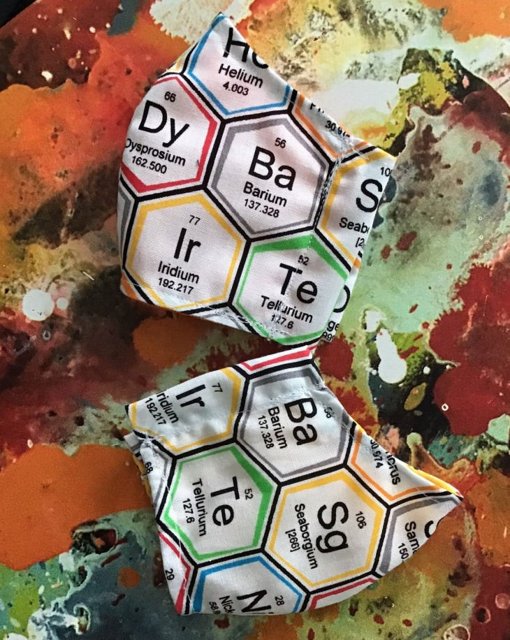 Kids Periodic Table Face Mask