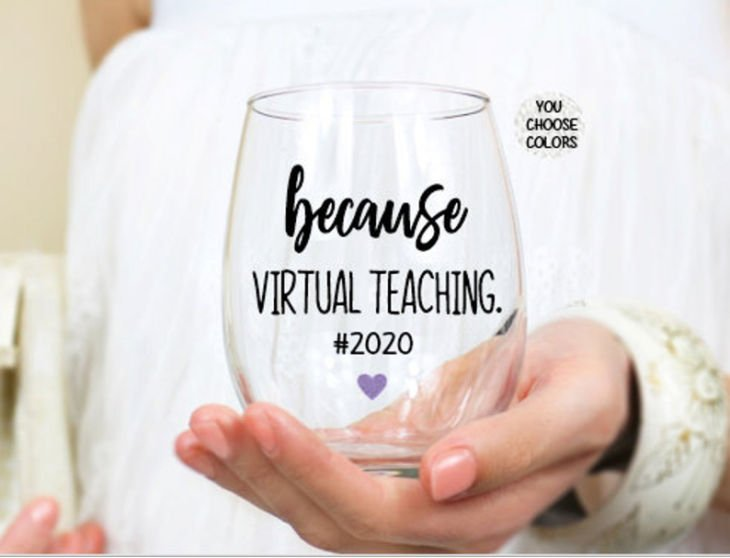 Personalized Virtual Teacher Wine Glass