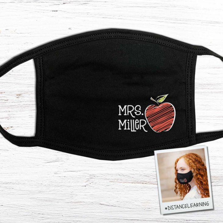 Personalized Cute Back-to-School Teacher Face Mask