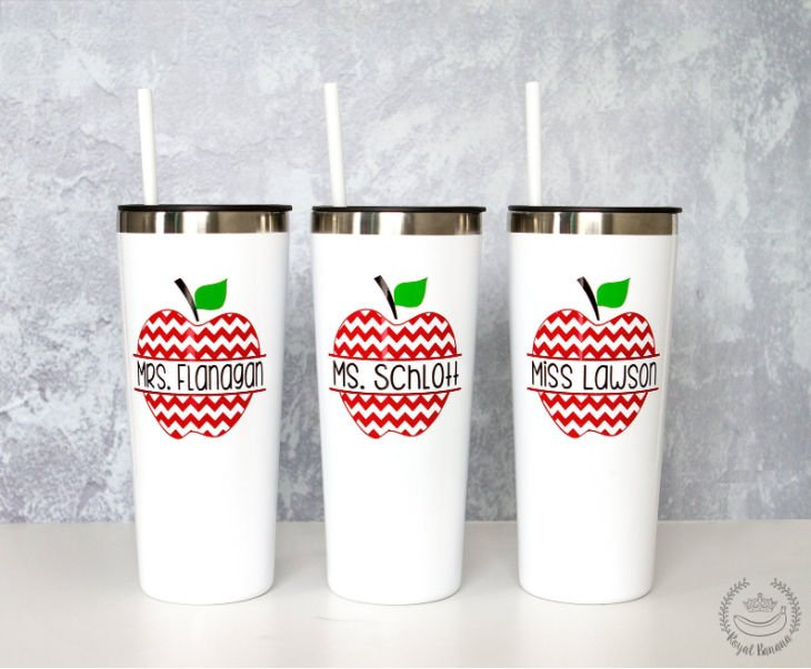 Personalized Teacher Tumbler with Straw