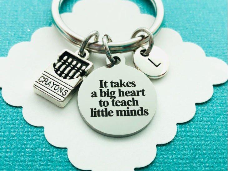 "Teacher ""Big Heart"" Keychain"