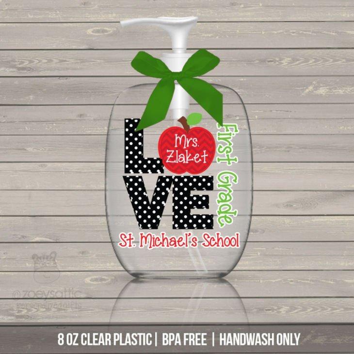 Adorable Teacher Hand Sanitizer Bottle