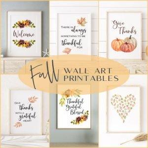 Fall Wall Decor Printables