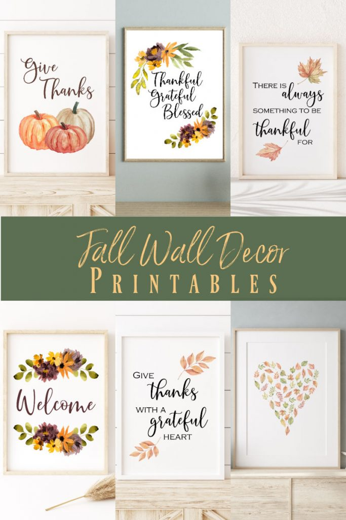 Fall Wall Decor Printables
