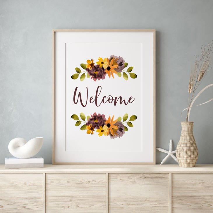 Fall Welcome Sign