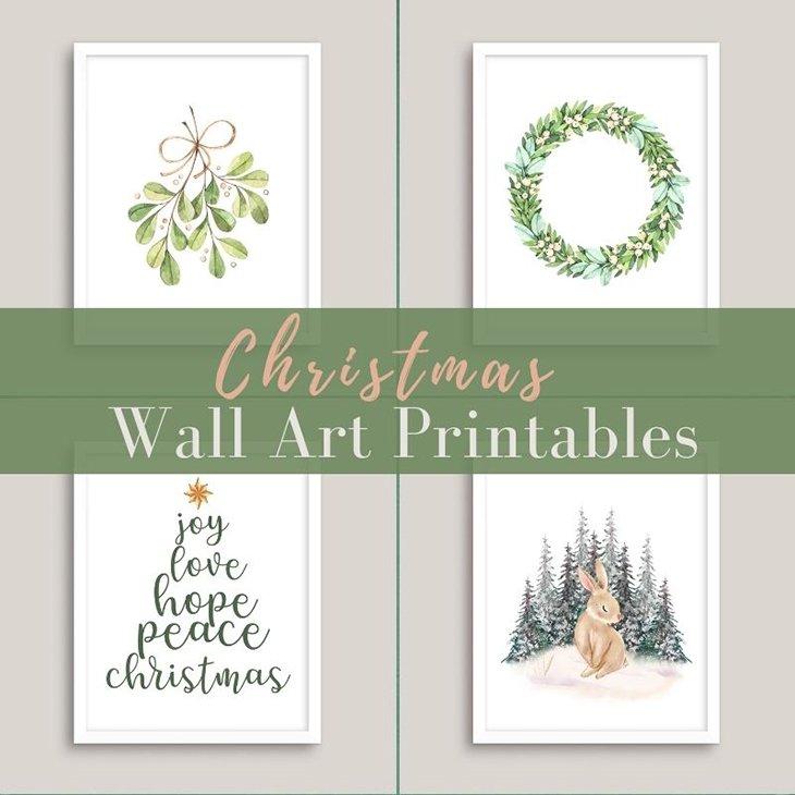 Christmas Wall Art Printables
