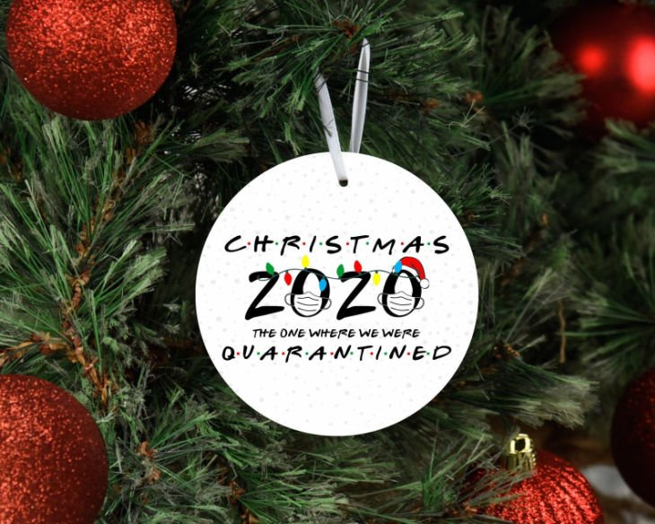 2020 Friends Themed Christmas Ornament